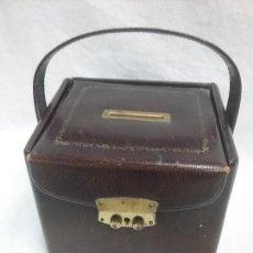 Antigüedades: ANTIGUA CAJA HUCHA TIPO PIEL . Lote 110654787