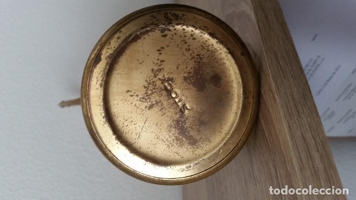 Antigüedades: PRECIOSO Y ANTIGUIO JARO,CRISTAL MORANO SOPLADO LA ASA METAL DORADO SELADO STOCK SIGLO XIX,XX - Foto 10 - 110685807