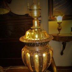 Antigüedades: SOBERBIO PIE DE LAMPARA. Lote 110705135