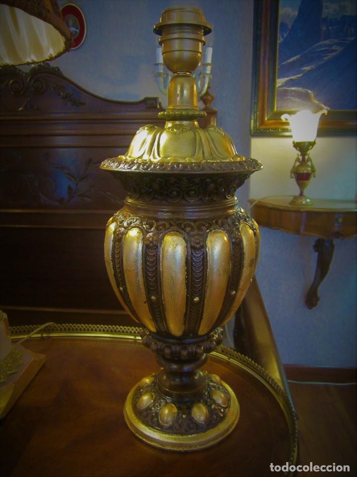 Antigüedades: SOBERBIO PIE DE LAMPARA - Foto 4 - 110705135