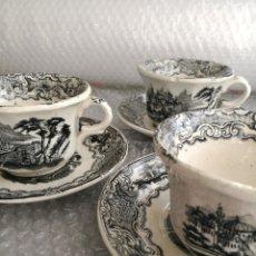 Antigüedades: LOTE 3 JUEGOS CAFÉ PICKMAN LA CARTUJA N°14 GRANDES,TAZAS 9CM DIAM X 6CM ALTO PLATOS 14 CM.ORIENTALES. Lote 110712886