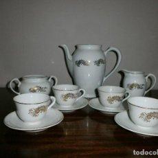 Antigüedades: JUEGO DE CAFE EN PORCELANA AÑOS 40 .. Lote 110720871