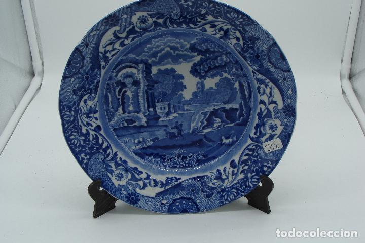 PLATO DE PORCELANA INGLESA - SIGLO XX (Antigüedades - Porcelanas y Cerámicas - Inglesa, Bristol y Otros)
