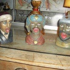 Antigüedades: 3 YAWNERS COLECCIÒN INTEC AÑOS 60, EN PIEDRA. OBSEQUIO A LAS FARMACIAS QUE COMPRABAN INTEC.. Lote 110729759