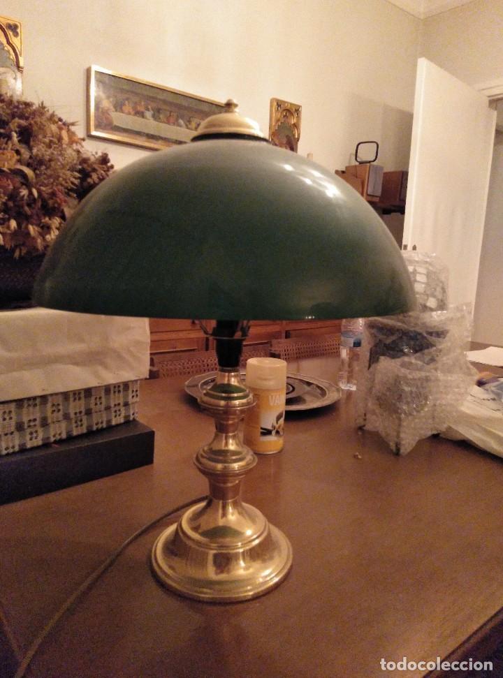 de 1991 latón de Preciosa vidrio mesa y inglesa dorado banquerode lámpara verdeestilo pulido 8OkNZw0nPX