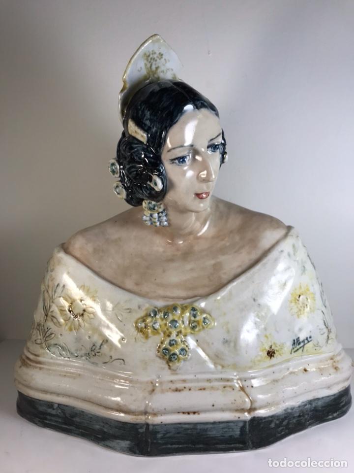 FIGURA CERÁMICA- PEYRÓ- BUSTO FALLERA- 28 CM (Antigüedades - Porcelanas y Cerámicas - Otras)