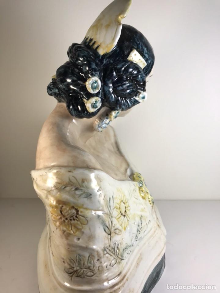 Antigüedades: Figura Cerámica- Peyró- Busto Fallera- 28 cm - Foto 13 - 110768616