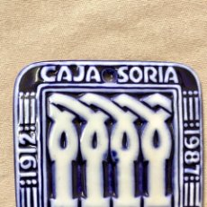 Antigüedades: PLACA SARGADELOS CAJA SORIA 75 ANIVERSARIO 1921 1987. Lote 110774563