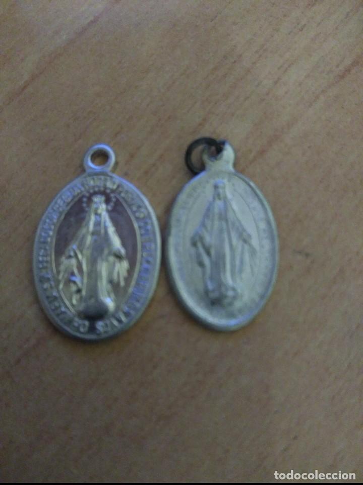 2 MEDALLITAS RELIGIOSAS INMACULADA (Antigüedades - Religiosas - Medallas Antiguas)