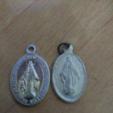 Antigüedades: 2 MEDALLITAS RELIGIOSAS INMACULADA. Lote 110814595