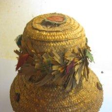 Antigüedades: ANTIGUO SOMBRERO DE PAJA. Lote 110815655