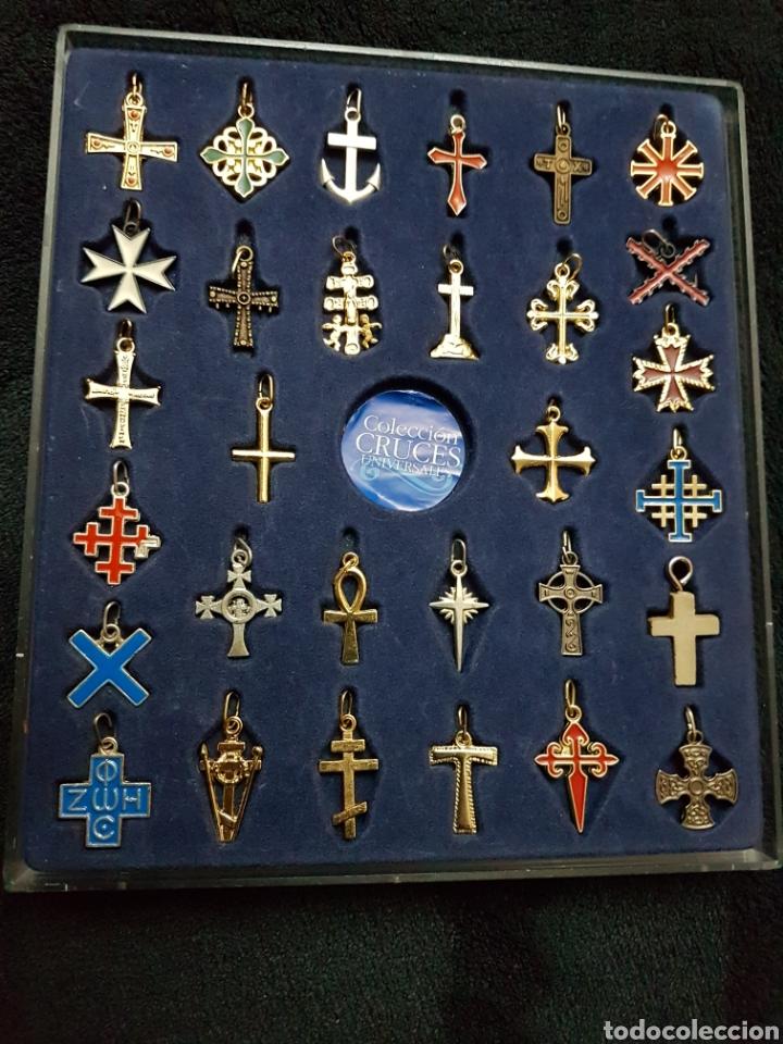 COLECCION CRUCES UNIVERSALES COMPLETA (Antigüedades - Religiosas - Crucifijos Antiguos)