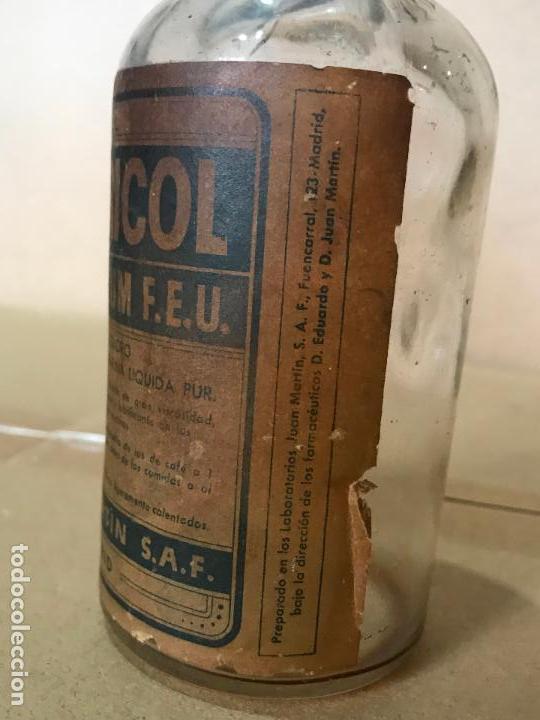 Antigüedades: Medicamento farmacia en frasco de cristal y corcho - Ventricol - Juan Marti S.A.F. - Foto 5 - 110838875