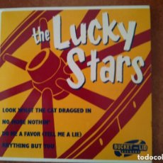 Discos de vinilo: LUCKY STARS - LOOK WHAT THE CAT DRAGGED IN + 3 (EP). Lote 110845903