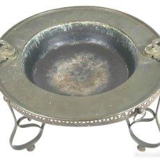 Antigüedades: BRASERO DE CARBÓN. LATÓN Y BRONCE. SIGLO XIX. . Lote 110851407