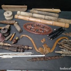 Antigüedades: LOTE DE PIEZAS DE MADERA PARA RESTAURACION. Lote 110864795