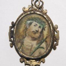 Antigüedades: RELICARIO. PLATA Y PAPEL. ESPAÑA. S. XIX. Lote 110876175