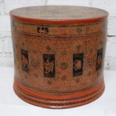 Antigüedades: GRAN CAJA DE PAPEL MACHÉ SIGLO XIX. . Lote 110910315