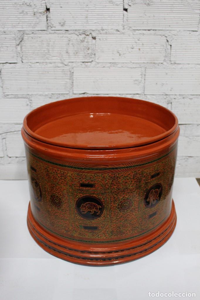 Antigüedades: Gran caja de Papel Maché siglo XIX. - Foto 3 - 110910315