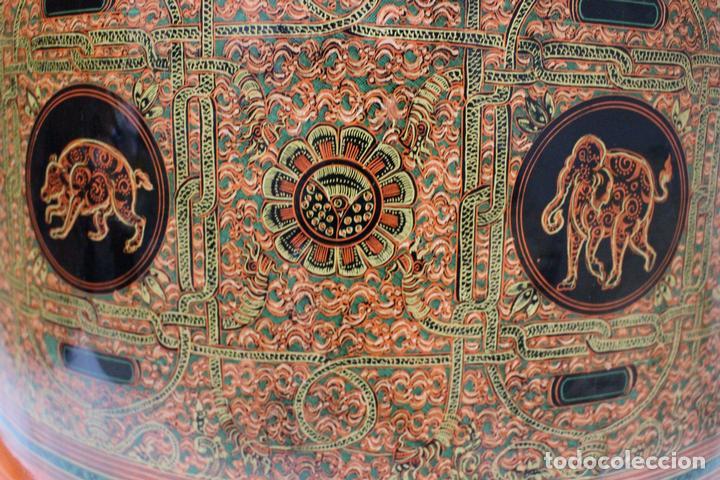 Antigüedades: Gran caja de Papel Maché siglo XIX. - Foto 7 - 110910315
