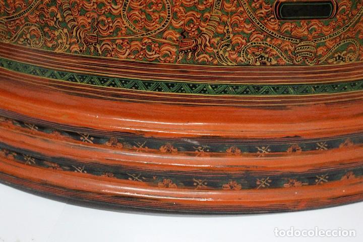 Antigüedades: Gran caja de Papel Maché siglo XIX. - Foto 8 - 110910315
