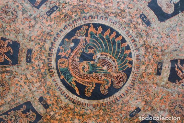 Antigüedades: Gran caja de Papel Maché siglo XIX. - Foto 10 - 110910315