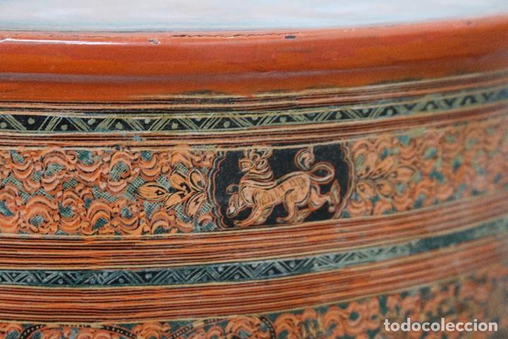 Antigüedades: Gran caja de Papel Maché siglo XIX. - Foto 12 - 110910315