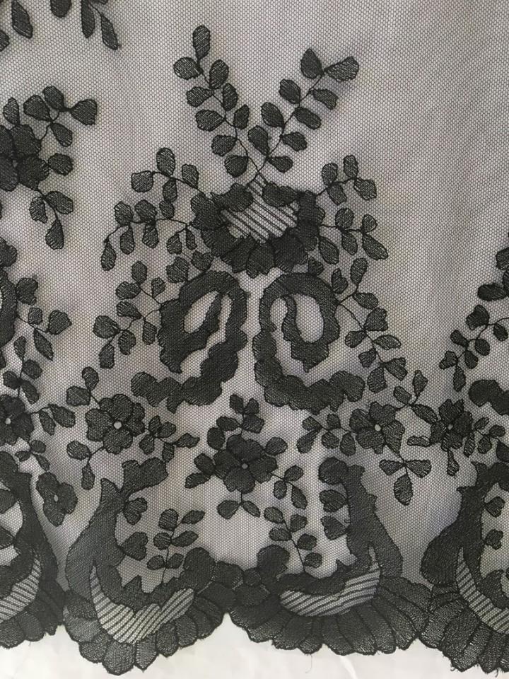 Antigüedades: MANTILLA ANTIGUA DE TUL ZURCIDO A MANO - Foto 5 - 116325875