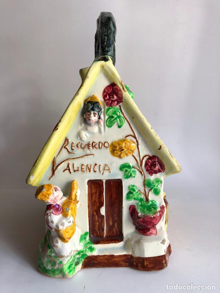 BOTIJO VINTAGE ANTIGUO CERAMICA MANISES BARRACA HUERTA VALENCIANA FALLERA (Antigüedades - Porcelanas y Cerámicas - Manises)