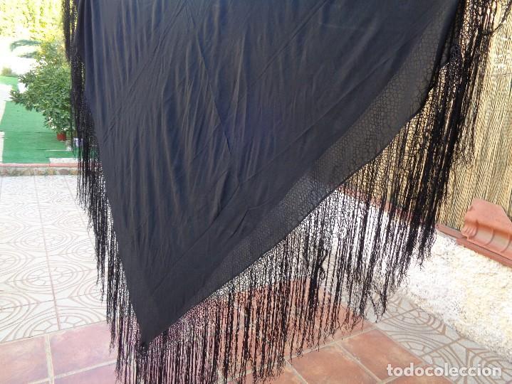 Antigüedades: BONITO MANTON DE MANILA COLOR NEGRO - Foto 3 - 110924895