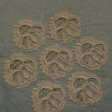 Antigüedades: ANTIGUA PIEZA DE ENCAJE - IMAGEN - NOVIA - S.XIX. Lote 110933591