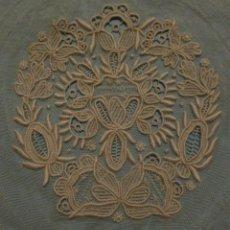Antigüedades: ANTIGUA PIEZA DE ENCAJE - IMAGEN - NOVIA - S.XIX . Lote 110934163