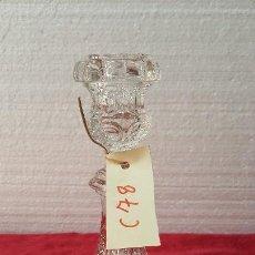 Antigüedades: CANDELABRO ANTIGUO EN CRISTAL TALLADO 5000 - 78. Lote 88469016