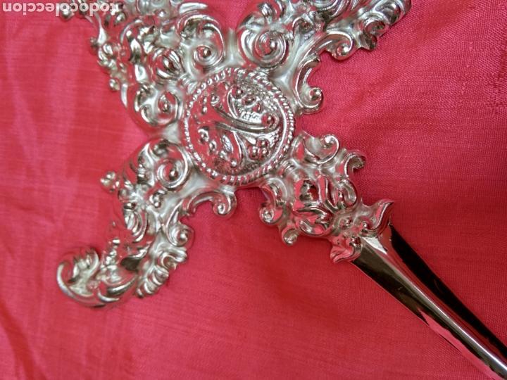Antigüedades: Puñal plateado para virgen, 17 cm ( nuevo ) - Foto 3 - 257588655
