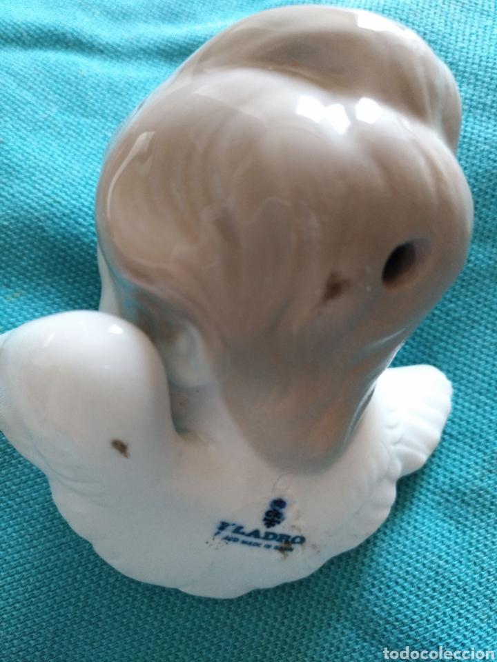 Antigüedades: Lladró Cabeza angel porcelana. Vintage Descatalogada 5cm - Foto 2 - 110984730