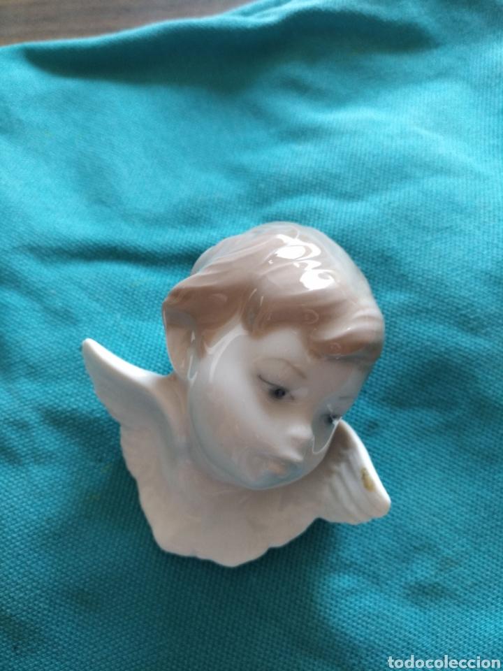 Antigüedades: Lladró Cabeza angel porcelana. Vintage Descatalogada 5cm - Foto 3 - 110984730
