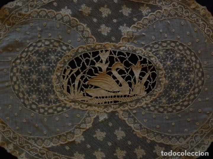 Antigüedades: ANTIGUO TAPETE DE ENCAJE PPIO,S.XX - Foto 2 - 111024563