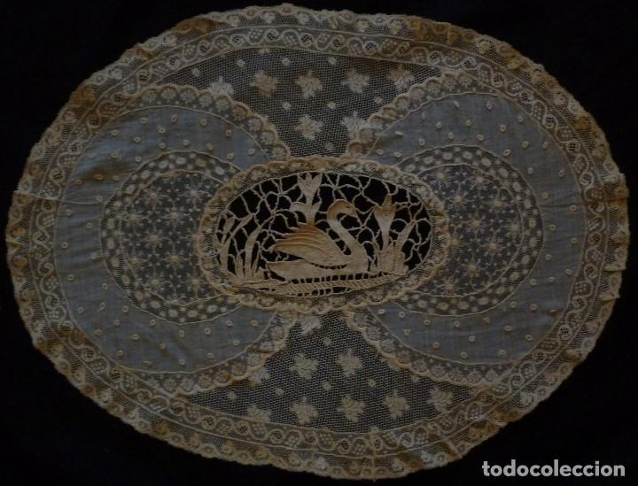 Antigüedades: ANTIGUO TAPETE DE ENCAJE PPIO,S.XX - Foto 3 - 111024563