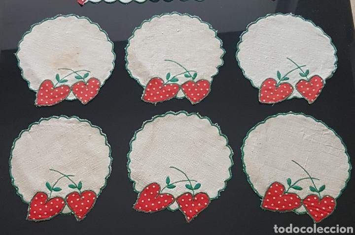 Antigüedades: Tapete lino fresas bordadas - Foto 3 - 111028079