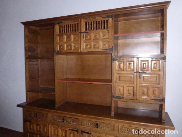 ANTIGUO MUEBLE APARADOR DE MADERA CASTELLANA (Antigüedades - Muebles Antiguos - Aparadores Antiguos)