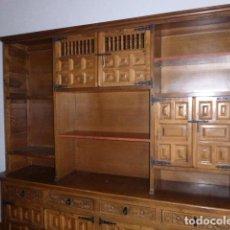 Antigüedades: ANTIGUO MUEBLE APARADOR DE MADERA CASTELLANA . Lote 111032179