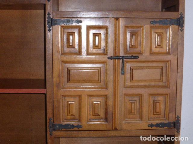 Antigüedades: ANTIGUO MUEBLE APARADOR DE MADERA CASTELLANA - Foto 3 - 111032179