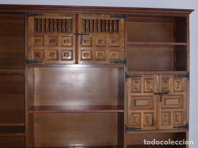 Antigüedades: ANTIGUO MUEBLE APARADOR DE MADERA CASTELLANA - Foto 4 - 111032179