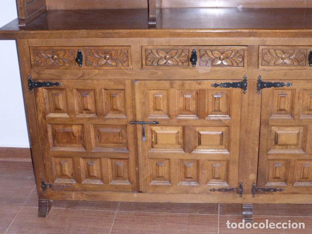 Antigüedades: ANTIGUO MUEBLE APARADOR DE MADERA CASTELLANA - Foto 5 - 111032179
