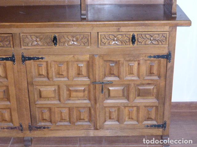 Antigüedades: ANTIGUO MUEBLE APARADOR DE MADERA CASTELLANA - Foto 6 - 111032179