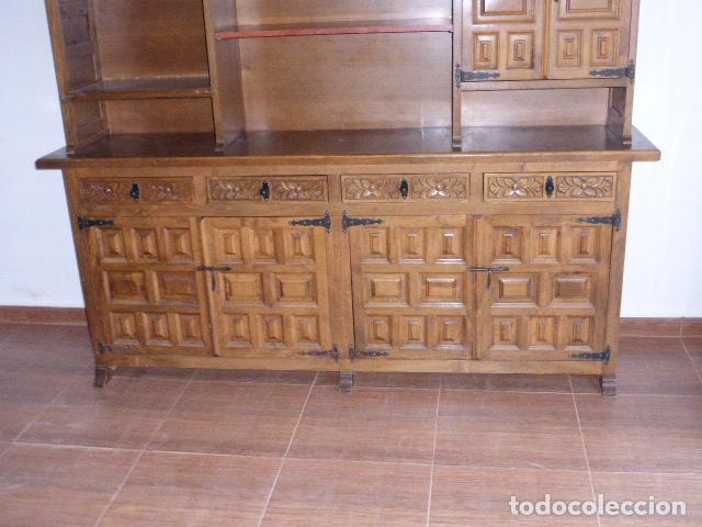 Antigüedades: ANTIGUO MUEBLE APARADOR DE MADERA CASTELLANA - Foto 7 - 111032179