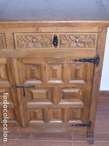 Antigüedades: ANTIGUO MUEBLE APARADOR DE MADERA CASTELLANA - Foto 8 - 111032179