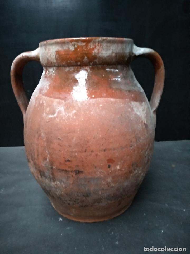 OLLA DE BARRO COCIDO Y VIDRIADO, ANTIGUA. POPULAR (Antigüedades - Porcelanas y Cerámicas - Otras)