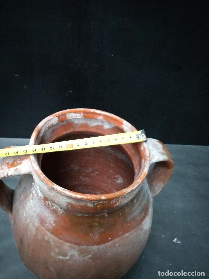 Antigüedades: OLLA DE BARRO COCIDO Y VIDRIADO, ANTIGUA. POPULAR - Foto 6 - 111042715