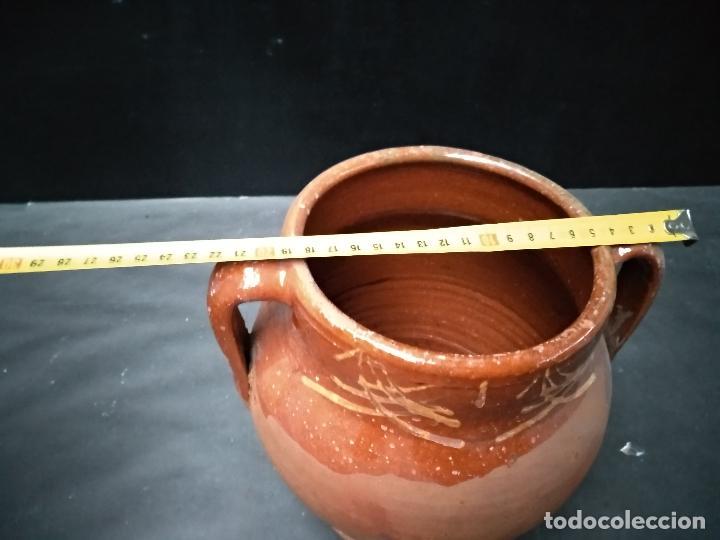 Antigüedades: OLLA DE BARRO COCIDO Y VIDRIADO, ANTIGUA. POSIBLEMENTE ZONA JAEN - Foto 6 - 111043243